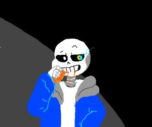 sans has an orange jooce