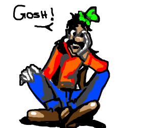 gosh! says human goofy
