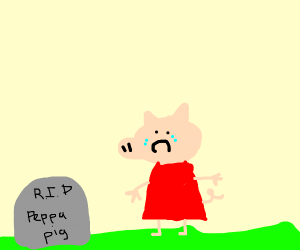 peppa pig visits her grave