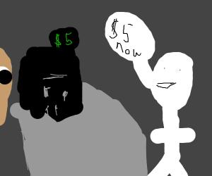 stickman steeling 5 dollars