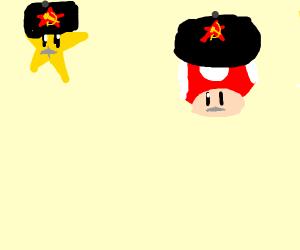communist mario powerup