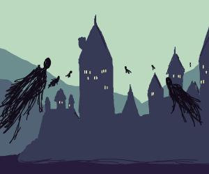 Dementors swarming Hogwarts
