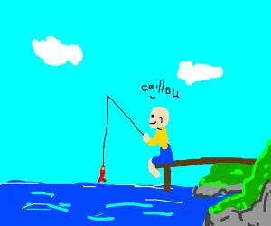caillou fishing