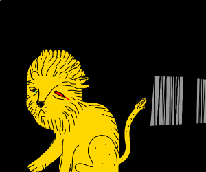 Lion has been through hell and lost an eye