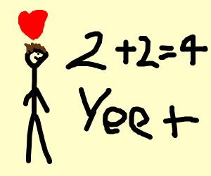 stickman loves math and yeets