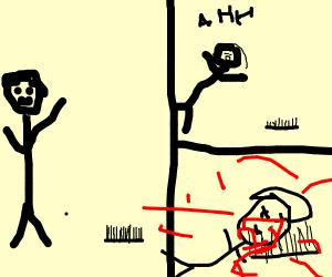 Man dies via comb