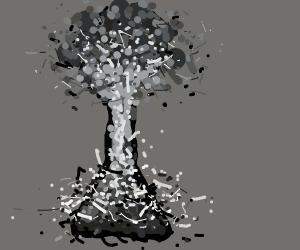 exploding monochromatic beaker