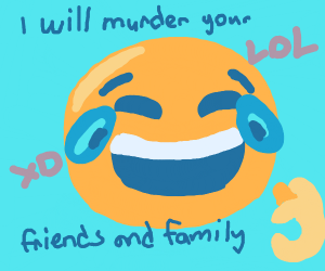 laughing crying emoji stares into your soul