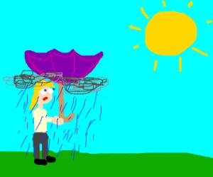 reverse umbrella causes rain