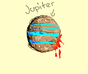 Jupiter is bleeding out its red