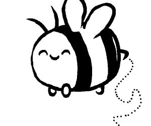 a chubby bee
