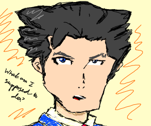 Phoenix wright doesnt know what to do