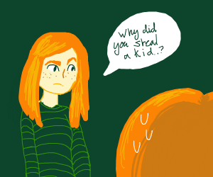 Redhead asks sibling why they stole a child