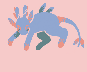 Leafeon and a rabbit fused