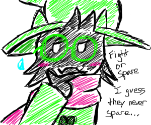 Hit or miss ralsei but it's fight or spare