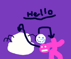Snowman and Person Exchange Hellos