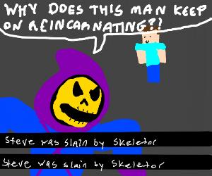 Skeletor sick of enemy being reincarnated