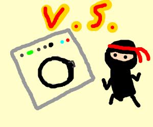 The great Washing Machine and Ninja war