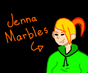 616d690ebff Jenna Marbles in a Neat Dude Beanie. Jenna Marbles in a Neat Dude Beanie.  drawing by Animated Girl