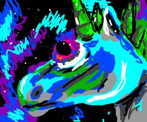 Alien-headed unicorn