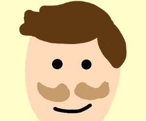 Close up of man with very nice Mustache