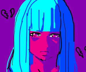 sad anime lady :/