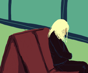 girl on a sad bus ride