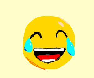 Crying emoji. Second most aggravating emoji