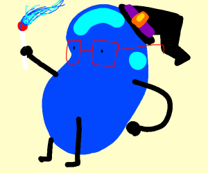 blue jelly bean is a wizard