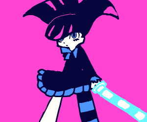 Stocking Anarchy with her sword