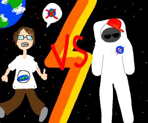 Chad Astronaut vs Virgin Flat Earther