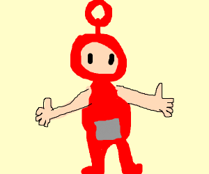 teletubbies with human arms & ears