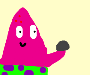 patrick from sponge finds a pretty rock