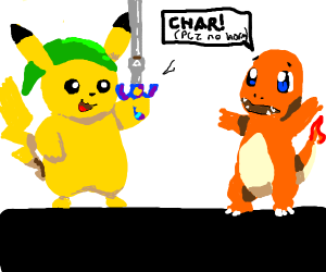 Link, the pikkchu, will not harm charmander