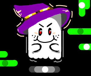 A cheeky witch ghost