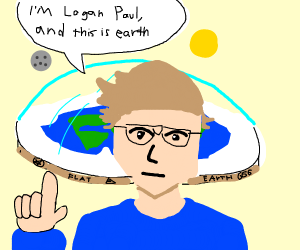 logan paul becomes a flat earther