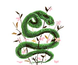 sad snake.