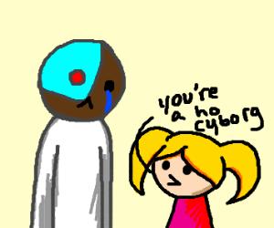 Girl calls cyborg a ho