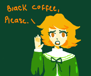 This little boy wants some black coffee