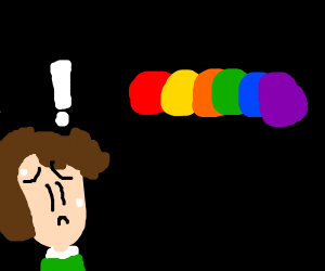 Person who has a phobia of Colours