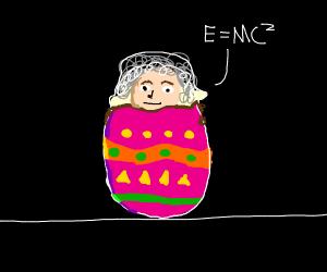 Einstein in an Easter egg