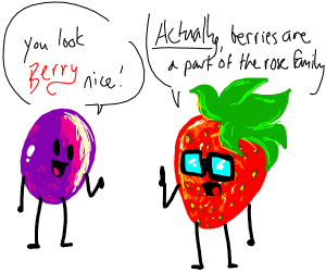 Grape compliments strawberry