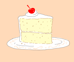 Elegant slice of cake
