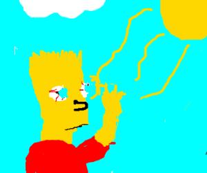 bart simpson goes blind