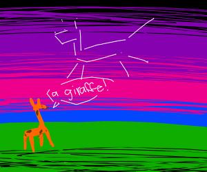 Giraffe sees giraffe constellation