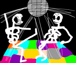 disco party for skeletons
