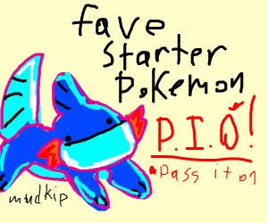 Favorite Starter Pokemon >>PIO<<