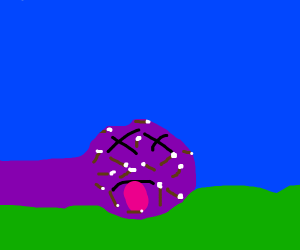 Giant Purple Monster Killed by Arrows