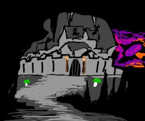 an underground cave town