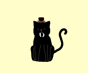 Saber-toothed Cat wearing a Top Hat